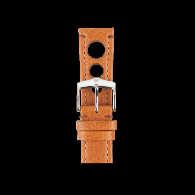 Uhren-Armband Hirsch Rally Goldbraun Uhren-Armband mit silberfarbener Dornschließe   Anstoßbreite 20 mm   Länge 20 cm bei Brogle