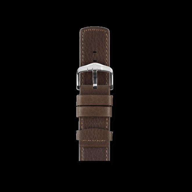 Uhren-Armband Hirsch Rebel Braun Uhren-Armband mit silberfarbener Dornschließe | Anstoßbreite 20 mm | Länge 20 cm bei Brogle