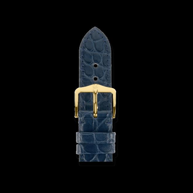 Uhren-Armband Hirsch Regent Blau Matt Uhren-Armband mit silberfarbener Dornschließe | Anstoßbreite 20 mm | Länge 20 cm bei Brogle