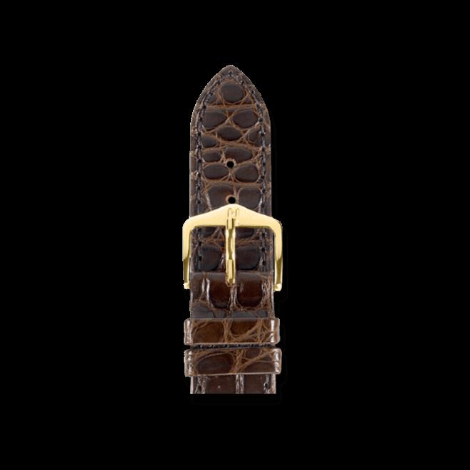 Uhren-Armband Hirsch Regent Braun Matt Uhren-Armband mit goldfarbener Dornschließe   Anstoßbreite 20 mm   Länge 18 cm bei Brogle