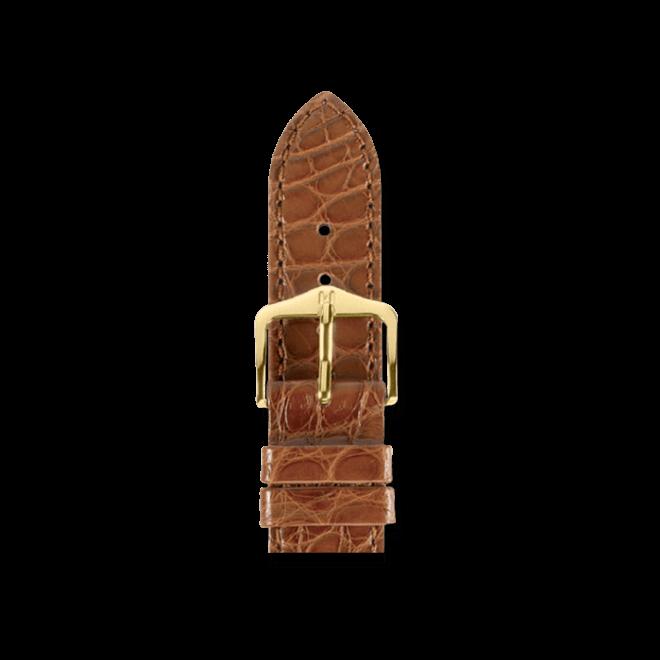 Uhren-Armband Hirsch Regent Goldbraun Matt Uhren-Armband mit goldfarbener Dornschließe   Anstoßbreite 16 mm   Länge 18 cm bei Brogle