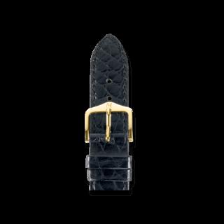 Hirsch Uhren-Armband Regent Schwarz Matt 04107159-1-16