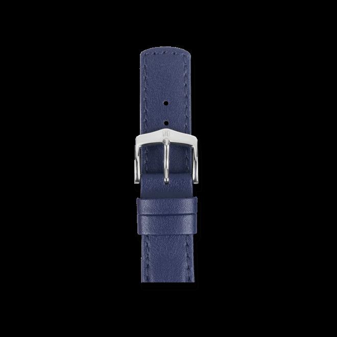 Uhren-Armband Hirsch Runner Blau Uhren-Armband mit silberfarbener Dornschließe   Anstoßbreite 21 mm   Länge 20 cm bei Brogle