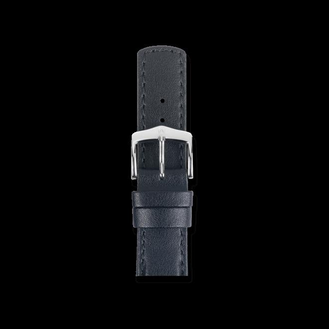 Uhren-Armband Hirsch Runner Schwarz Uhren-Armband mit silberfarbener Dornschließe | Anstoßbreite 21 mm | Länge 20 cm bei Brogle