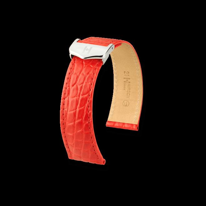 Uhren-Armband Hirsch Savoir Braun Matt Uhren-Armband mit silberfarbener Faltschließe | Anstoßbreite 18 mm | Länge 20 cm bei Brogle