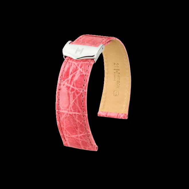 Uhren-Armband Hirsch Savoir Goldbraun Uhren-Armband mit silberfarbener Faltschließe | Anstoßbreite 21 mm | Länge 20 cm