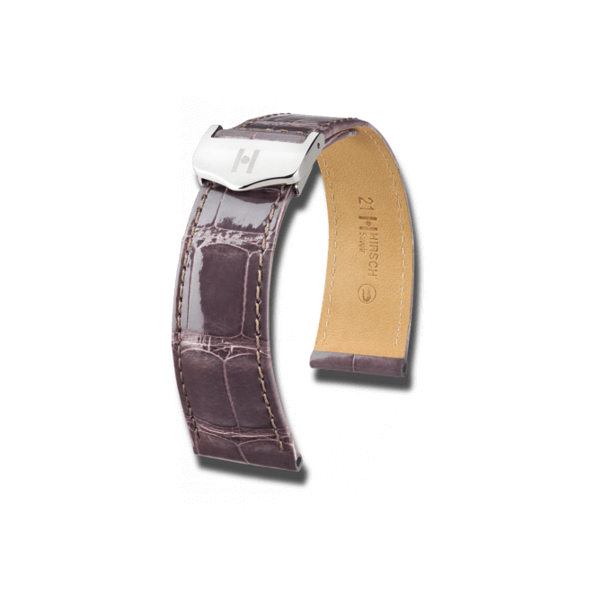 Uhren-Armband Hirsch Savoir Orange Matt Uhren-Armband mit silberfarbener Faltschließe | Anstoßbreite 21 mm | Länge 19,50 cm bei Brogle