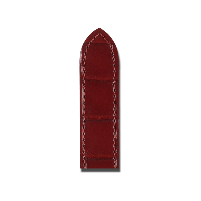 Uhren-Armband Hirsch Savoir Weinrot Matt Uhren-Armband mit silberfarbener Faltschließe | Anstoßbreite 12 mm | Länge 19,50 cm bei Brogle