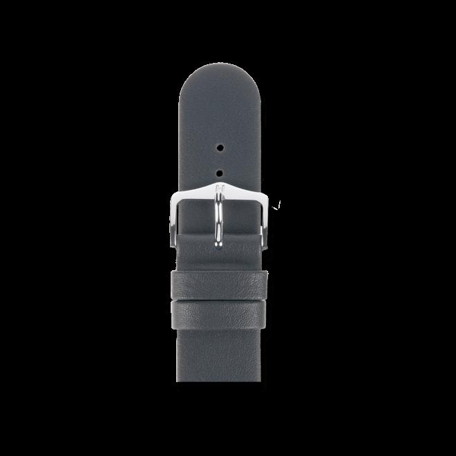 Uhren-Armband Hirsch Scandic Grau Uhren-Armband mit silberfarbener Dornschließe   Anstoßbreite 18 mm   Länge 18 cm bei Brogle
