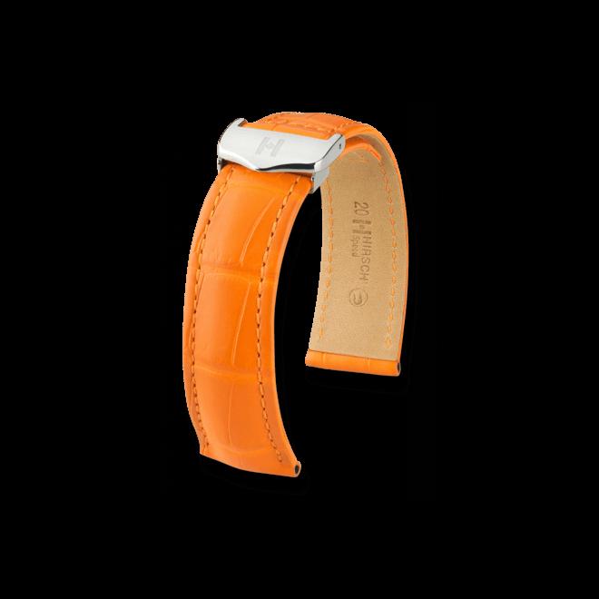 Uhren-Armband Hirsch Speed Goldbraun Matt Uhren-Armband mit silberfarbener Faltschließe   Anstoßbreite 20 mm   Länge 19 cm bei Brogle