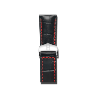 Hirsch Uhren-Armband Speed Schwarz Matt 07507458-2-2218