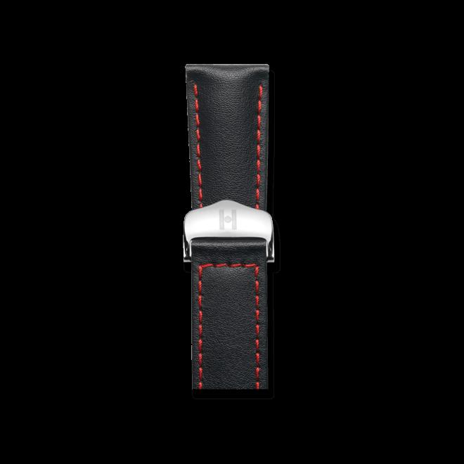 Uhren-Armband Hirsch Speed Schwarz Uhren-Armband mit silberfarbener Faltschließe | Anstoßbreite 19 mm | Länge 19 cm bei Brogle