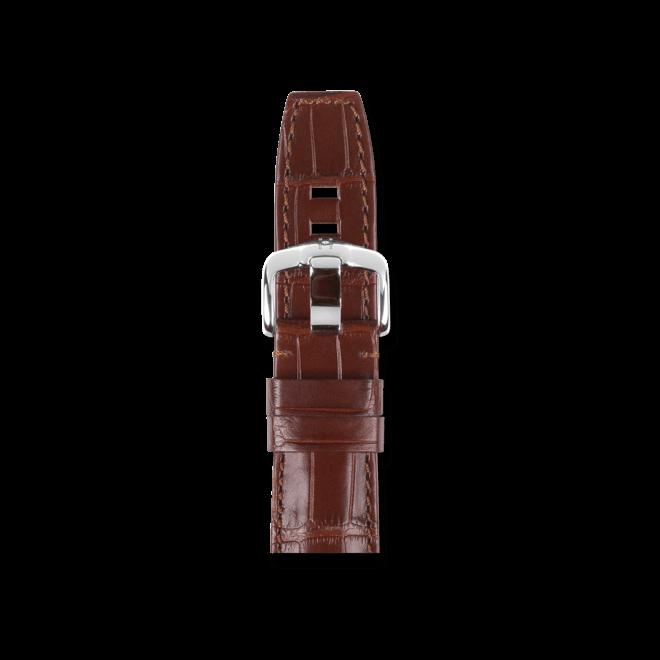 Uhren-Armband Hirsch Tritone Braun Matt Uhren-Armband mit silberfarbener Dornschließe | Anstoßbreite 22 mm | Länge 20 cm bei Brogle
