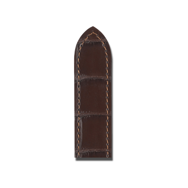 Uhren-Armband Hirsch Tritone Dunkelbraun Matt Uhren-Armband mit silberfarbener Dornschließe   Anstoßbreite 24 mm   Länge 20 cm bei Brogle