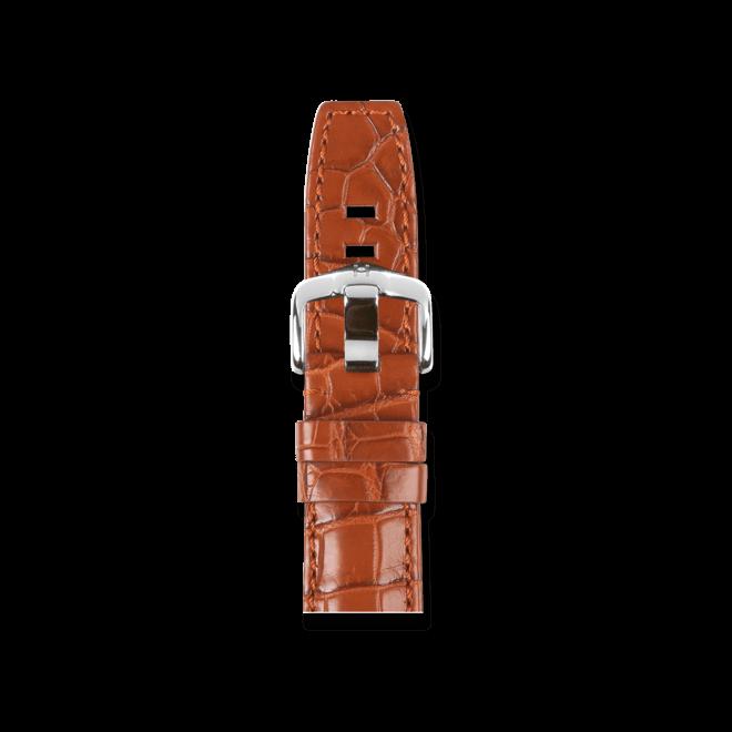Uhren-Armband Hirsch Tritone Goldbraun Matt Uhren-Armband mit silberfarbener Dornschließe | Anstoßbreite 22 mm | Länge 20 cm bei Brogle