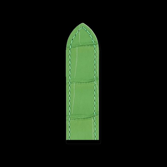 Uhren-Armband Hirsch Tritone Grün Matt Uhren-Armband mit silberfarbener Dornschließe | Anstoßbreite 24 mm | Länge 20 cm bei Brogle