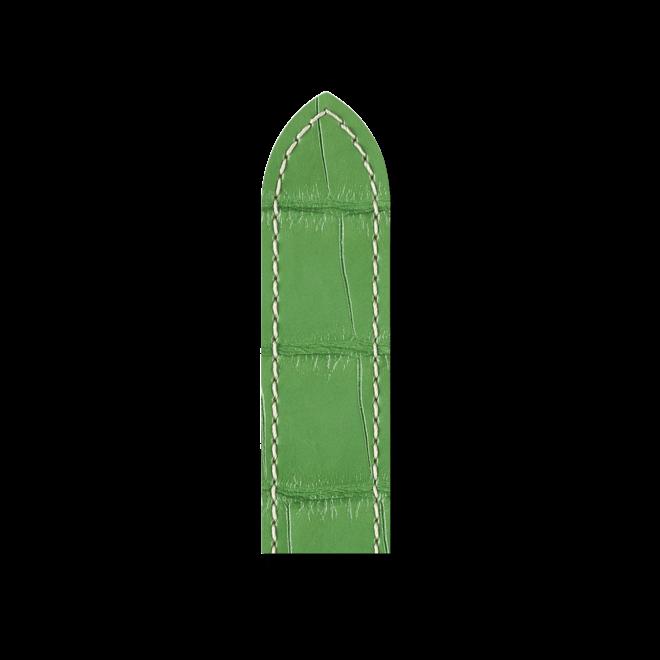 Uhren-Armband Hirsch Tritone Grün Matt Uhren-Armband mit silberfarbener Dornschließe | Anstoßbreite 22 mm | Länge 20 cm bei Brogle