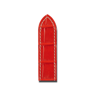 Hirsch Uhren-Armband Tritone Rot 08607028-2-22