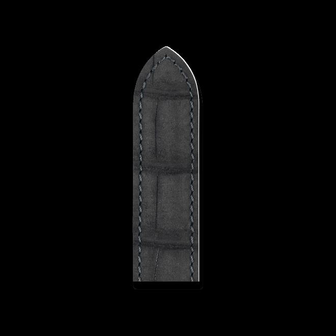 Uhren-Armband Hirsch Tritone Schwarz Uhren-Armband mit silberfarbener Dornschließe   Anstoßbreite 22 mm   Länge 20 cm bei Brogle
