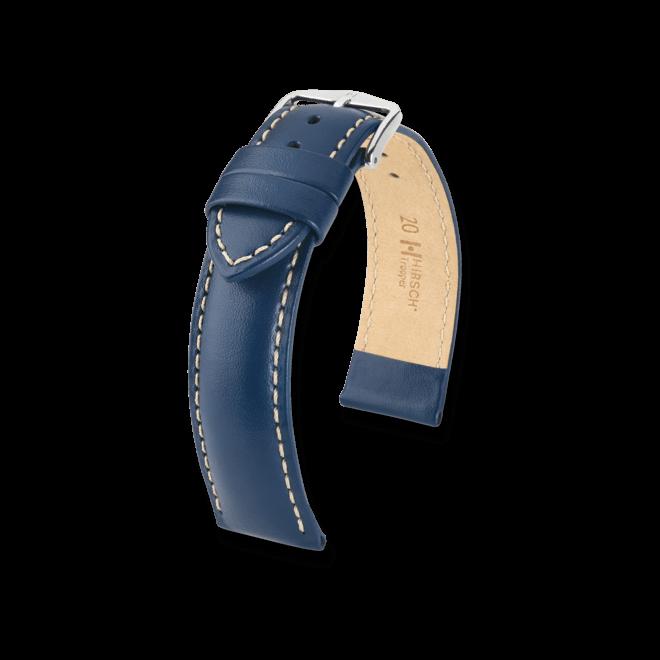 Uhren-Armband Hirsch Trooper Schwarz Uhren-Armband mit silberfarbener Dornschließe   Anstoßbreite 20 mm   Länge 20 cm bei Brogle