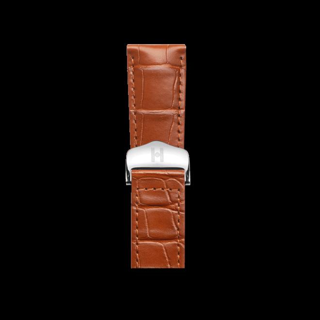 Uhren-Armband Hirsch Voyager Goldbraun Matt Uhren-Armband mit silberfarbener Faltschließe | Anstoßbreite 22 mm | Länge 20,50 cm bei Brogle
