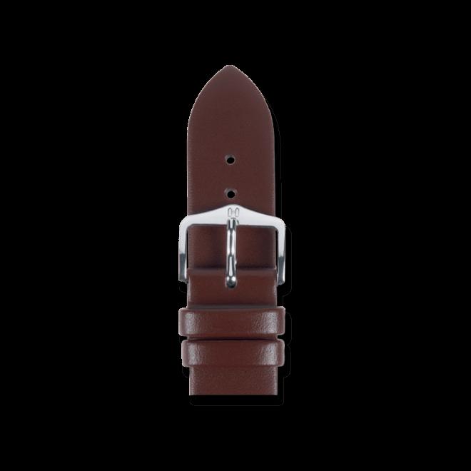 Uhren-Armband Hirsch Wild Calf Braun Uhren-Armband mit silberfarbener Dornschließe | Anstoßbreite 16 mm | Länge 20 cm bei Brogle