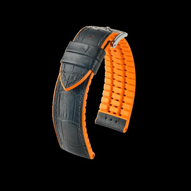 Uhren-Armband Hirsch Andy Blau Uhren-Armband mit silberfarbener Dornschließe | Anstoßbreite 18 mm | Länge 20 cm bei Brogle