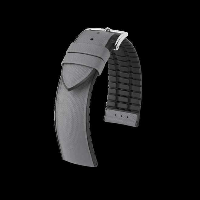 Uhren-Armband Hirsch Arne Schwarz Uhren-Armband mit silberfarbener Dornschließe   Anstoßbreite 18 mm   Länge 20 cm bei Brogle
