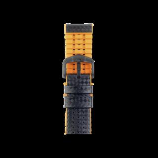 Hirsch Uhren-Armband Ayrton Orange 0917692050-5-20