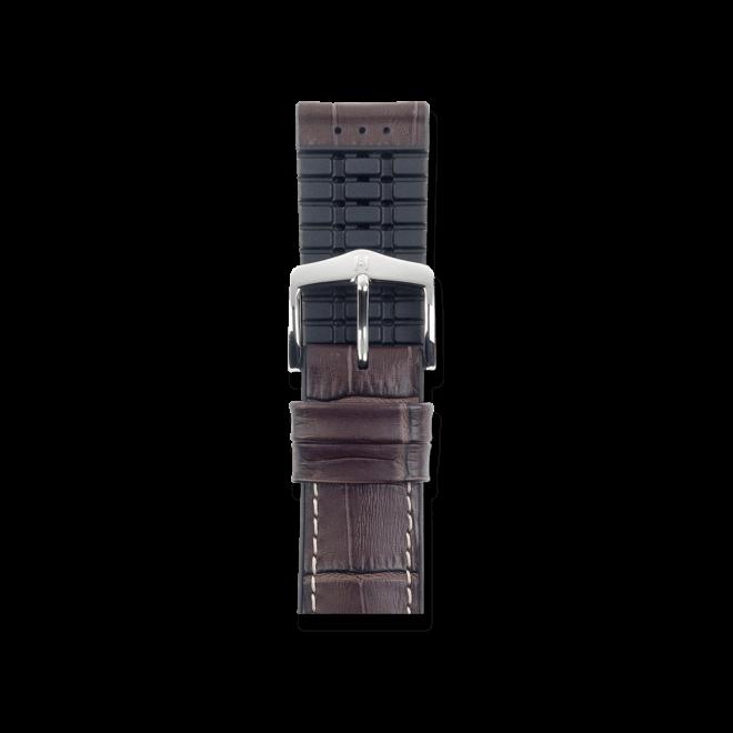 Uhren-Armband Hirsch George Braun Uhren-Armband mit silberfarbener Dornschließe | Anstoßbreite 22 mm | Länge 20 cm bei Brogle