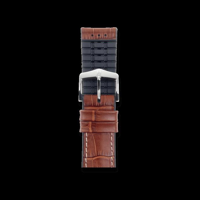 Uhren-Armband Hirsch George Goldbraun Uhren-Armband mit silberfarbener Dornschließe | Anstoßbreite 22 mm | Länge 20 cm bei Brogle