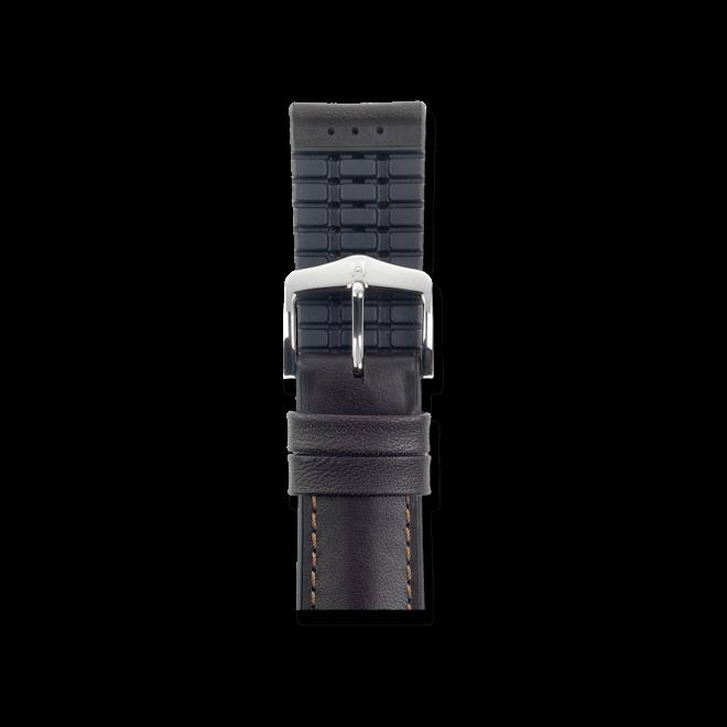 Uhren-Armband Hirsch James Braun Uhren-Armband mit silberfarbener Dornschließe   Anstoßbreite 18 mm   Länge 18 cm bei Brogle