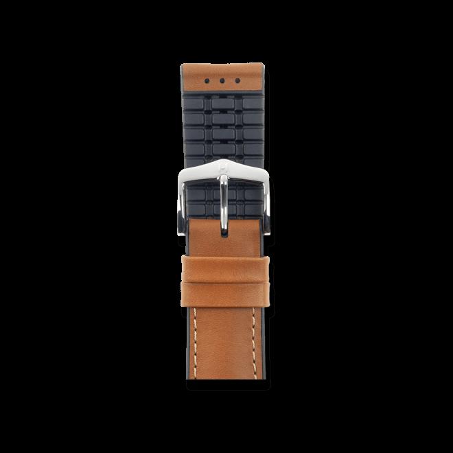 Uhren-Armband Hirsch James Goldbraun Uhren-Armband mit silberfarbener Dornschließe   Anstoßbreite 20 mm   Länge 18 cm bei Brogle