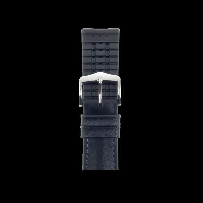 Uhren-Armband Hirsch James Schwarz Uhren-Armband mit silberfarbener Dornschließe   Anstoßbreite 18 mm   Länge 20 cm bei Brogle