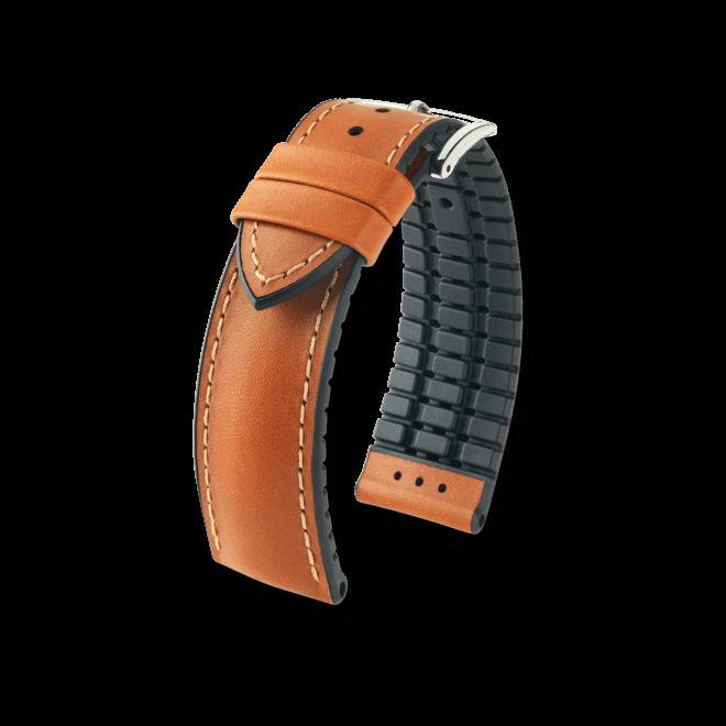 Uhren-Armband Hirsch James Schwarz Uhren-Armband mit silberfarbener Dornschließe   Anstoßbreite 22 mm   Länge 20 cm bei Brogle
