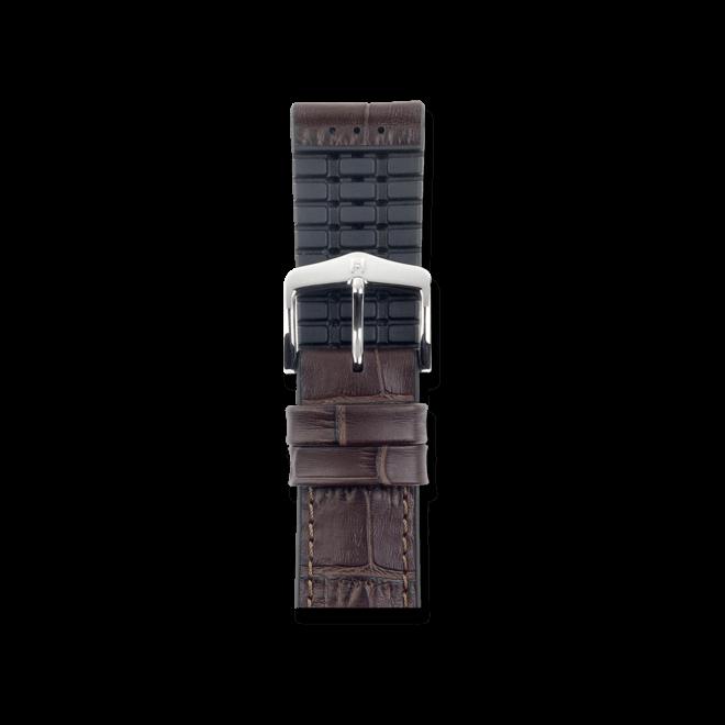 Uhren-Armband Hirsch Paul Braun Uhren-Armband mit silberfarbener Dornschließe | Anstoßbreite 21 mm | Länge 20 cm bei Brogle