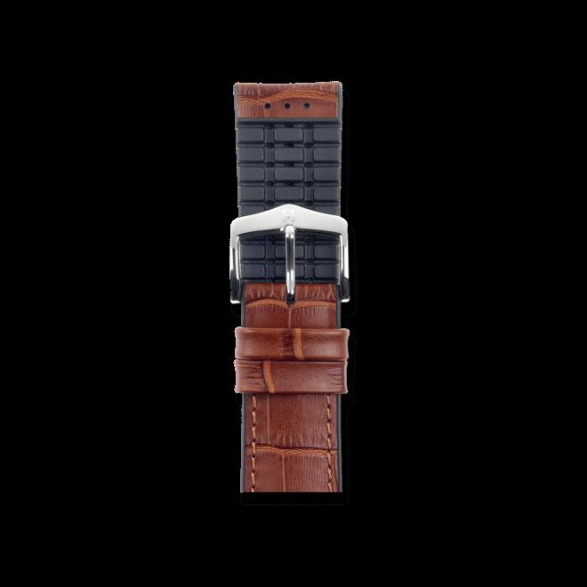 Uhren-Armband Hirsch Paul Goldbraun Uhren-Armband mit silberfarbener Dornschließe   Anstoßbreite 20 mm   Länge 18 cm bei Brogle