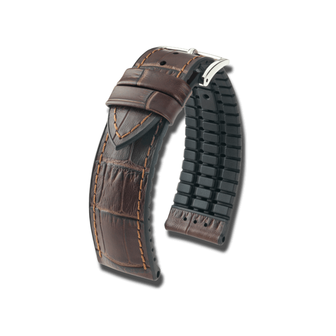 Uhren-Armband Hirsch Paul Honig Uhren-Armband mit silberfarbener Dornschließe | Anstoßbreite 20 mm | Länge 18 cm bei Brogle
