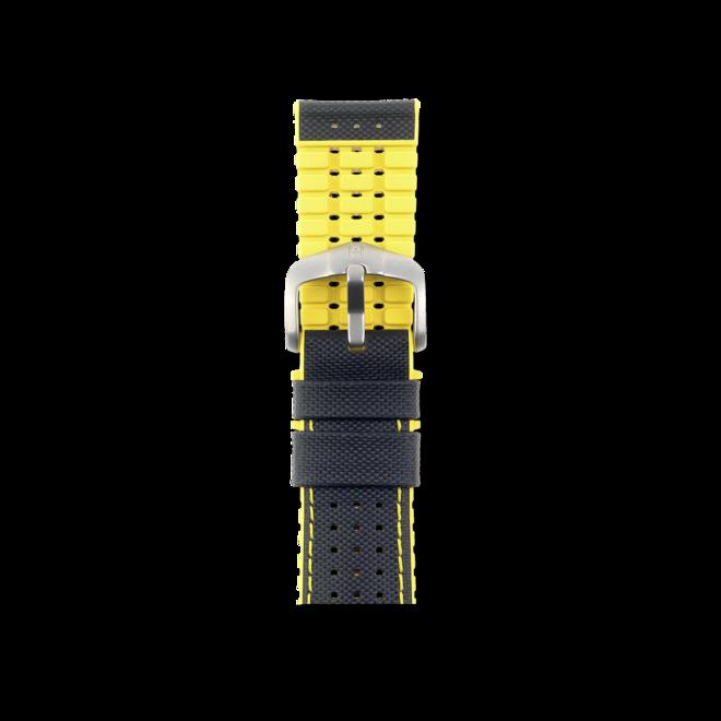 Uhren-Armband Hirsch Robby Gelb Matt Uhren-Armband mit silberfarbener Dornschließe | Anstoßbreite 20 mm | Länge 20 cm bei Brogle