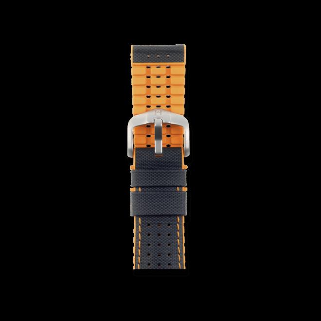 Uhren-Armband Hirsch Robby Orange Uhren-Armband mit silberfarbener Dornschließe   Anstoßbreite 20 mm   Länge 20 cm bei Brogle