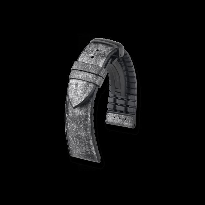 Uhren-Armband Hirsch Stone Schwarz Uhren-Armband mit schwarzer Faltschließe   Anstoßbreite 22 mm   Länge 20 cm bei Brogle