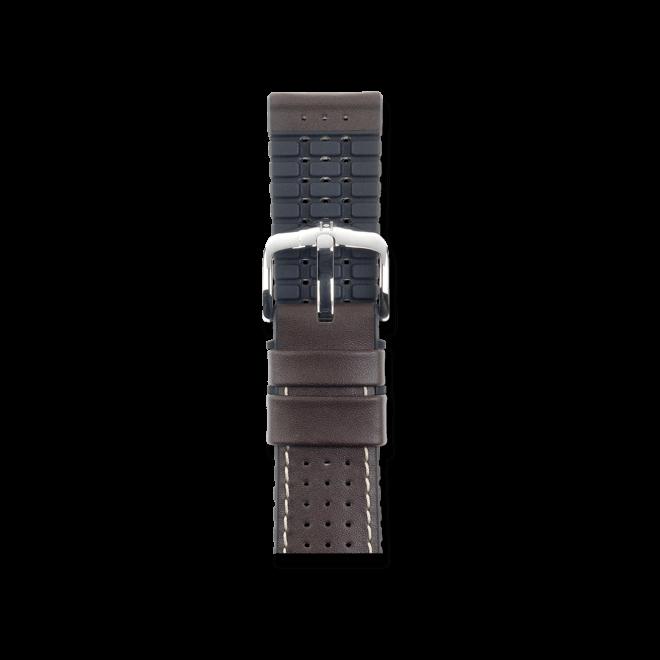 Uhren-Armband Hirsch Tiger Braun Uhren-Armband mit silberfarbener Dornschließe | Anstoßbreite 24 mm | Länge 20 cm bei Brogle