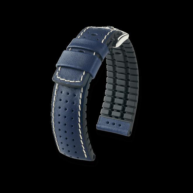 Uhren-Armband Hirsch Tiger Schwarz Uhren-Armband mit silberfarbener Dornschließe   Anstoßbreite 18 mm   Länge 20 cm bei Brogle