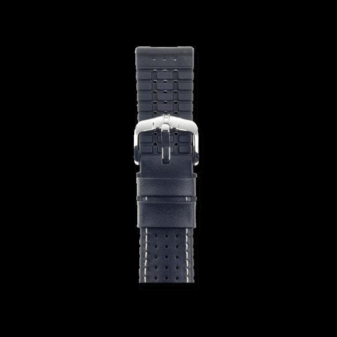 Uhren-Armband Hirsch Tiger Schwarz Uhren-Armband mit silberfarbener Dornschließe   Anstoßbreite 21 mm   Länge 20 cm bei Brogle