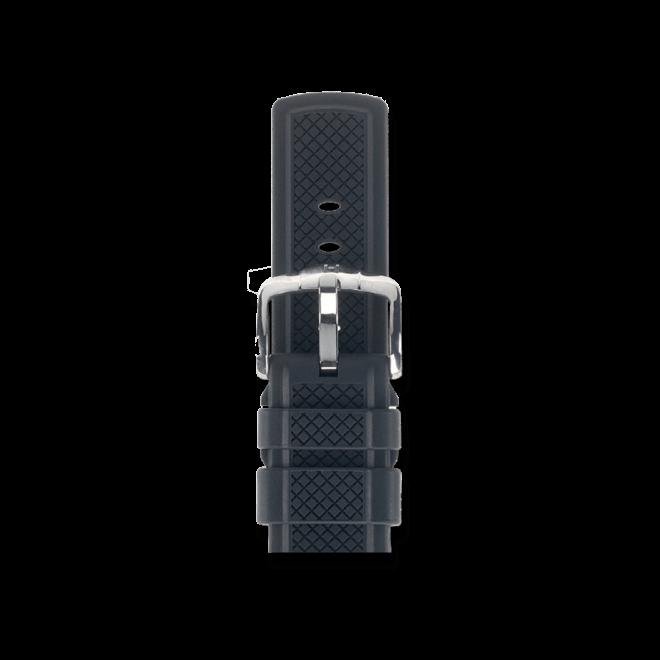 Uhren-Armband Hirsch Accent Schwarz Uhren-Armband mit silberfarbener Dornschließe | Anstoßbreite 20 mm | Länge 22 cm bei Brogle