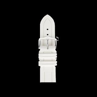 Hirsch Uhren-Armband Hevea Weiß 40458800-2-20