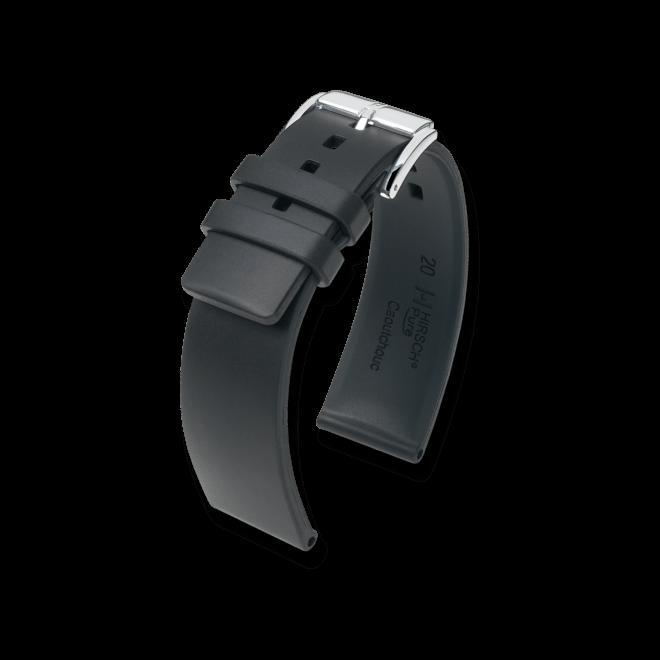 Uhren-Armband Hirsch Pure Blau Uhren-Armband mit silberfarbener Dornschließe | Anstoßbreite 20 mm | Länge 20 cm bei Brogle