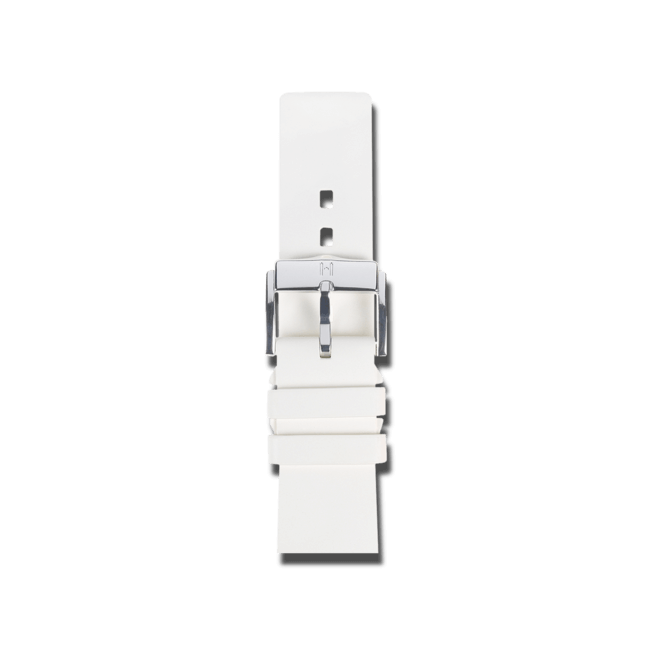 Uhren-Armband Hirsch Pure Weiß Uhren-Armband mit silberfarbener Dornschließe | Anstoßbreite 20 mm | Länge 18 cm bei Brogle