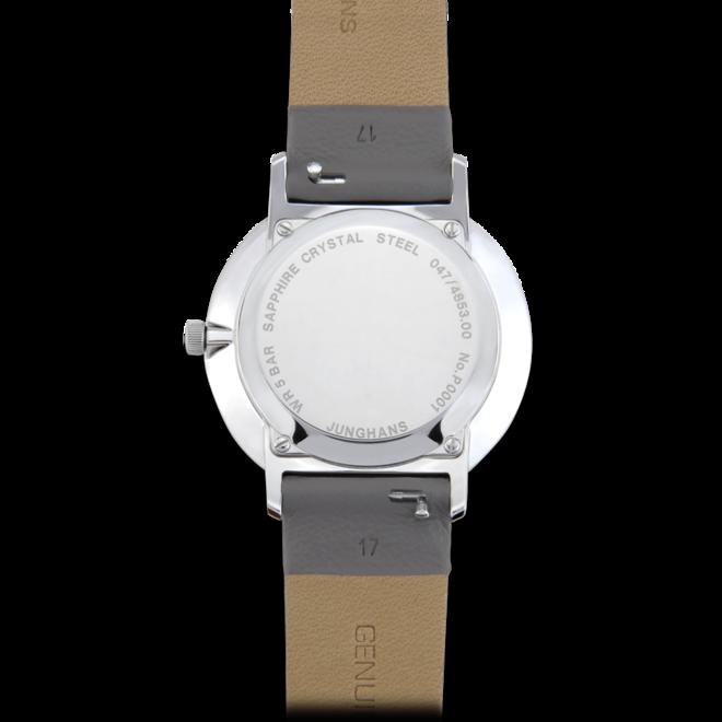 Damenuhr Junghans Form Damen mit weißem Zifferblatt und Kalbsleder-Armband bei Brogle