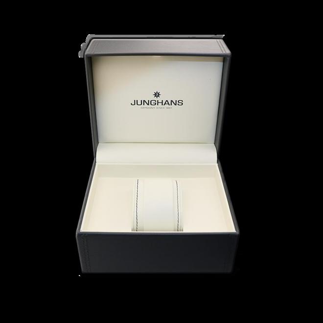 Herrenuhr Junghans Form Mega mit silberfarbenem Zifferblatt und Kalbsleder-Armband bei Brogle